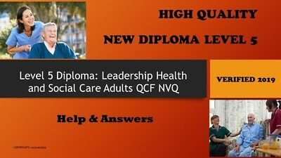 Level 5 Diploma in Leadership Health and Social Care Adults QCF NVQ Unit 2-SHC5