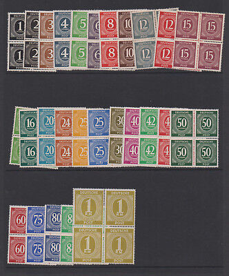 Germany 1946 Postwar 1 pfennig to 1 RM Scott 530-556 Complete 27 Blocks MNH |