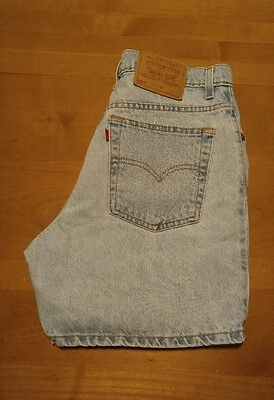 Vintage Levis 550 Shorts Juniors Size 11 USA Made Blue Jean Denim