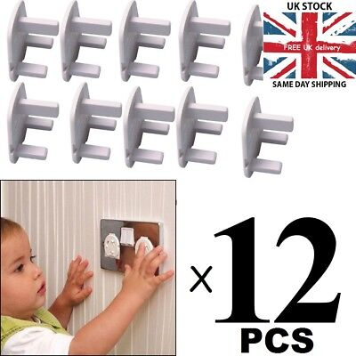 Electrical Plug Protector Socket Safety Covers Child/Baby Main Socket Cover x12