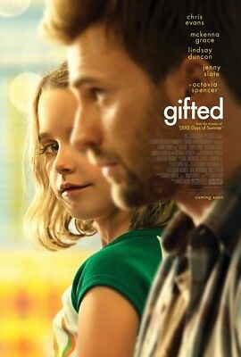 GIFTED MOVIE POSTER 2 Sided ORIGINAL 27x40 CHRIS EVANS JENNY SLATE