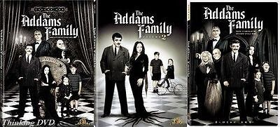 The Addams Family Complete Series DVD Set TV Show Season Vol 1-3 Collection Lot