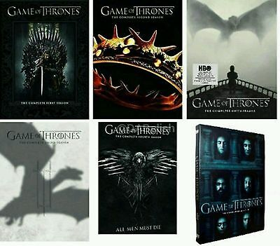 Game of Thrones Season 1 2 3 4 5 6 Complete DVD Set Series Episode Bundle US HBO