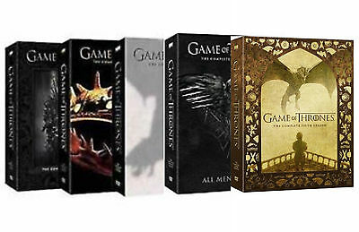 Game of Thrones ALL Season 1-5 Complete DVD Set Collection Series TV Box Lot HBO