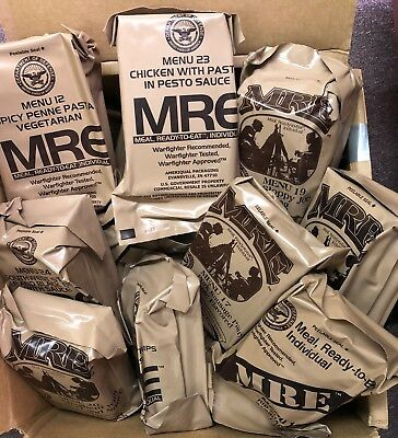 MILITARY ISSUE MEALS READY TO EAT  MREs - CHOOSE YOUR SELECTION
