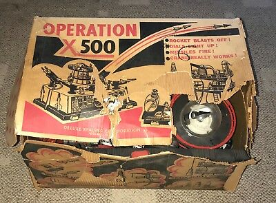 Deluxe Reading  Operation X-500  X500  Rocket Base  C. 1960's  Topper