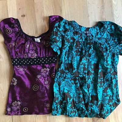 Apt 9 Heart Soul Lot of 2 Womens Small Blouses Bundle Shirts tops Short Sleeved