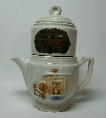 Vintage Porcelier Drip Coffee Maker With Original Label