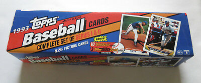 1993 Topps Baseball Cards Complete Set Series I & II, with Derek Jeter RC 1992