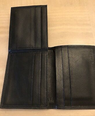 Christian Dior Mens Wallet Authentic VINTAGE NEW soft black leather org $375