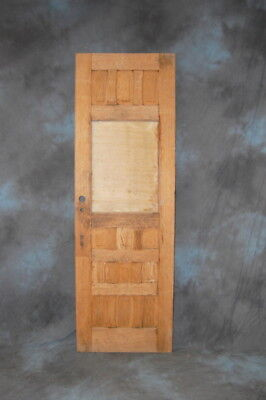 "Original Antique 12 Panel Exterior Oak Door 36"" x 97"" Stripped, Vintage Door"