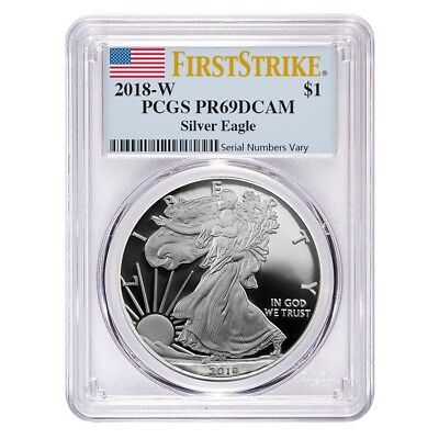 2018-W 1 oz Proof Silver American Eagle PCGS PF 69 DCAM First Strike