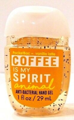 1 Bath & Body Works Coffee Is My Spirit Animal Pocketbac Anti Bacterial Hand Gel