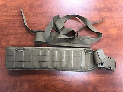Eagle Industries Operator Gun Belt Padded Medium Coyote Brown with Suspenders