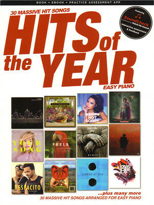 Hits of the Year 2017 Songbook 30 akt. Pop Songs Noten Easy Piano Klavier leicht