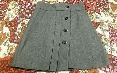 "A 1960s NEW Deadstock Pleated Skirt FRENCH ""SIVAX"" vintage girls clothes 2yrs"