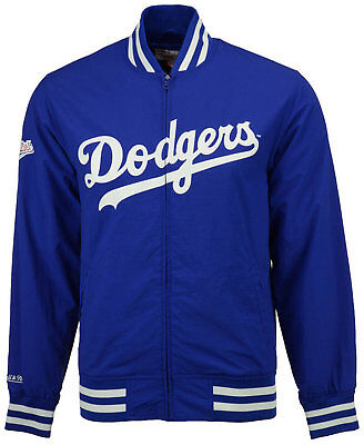 b5d4d509bcf Mitchell and Ness Men's Los Angeles Dodgers Team History Warm Up Jacket In  Blue