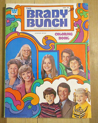 The Brady Bunch Coloring Activity Book Whitman 1972 Western Publishing
