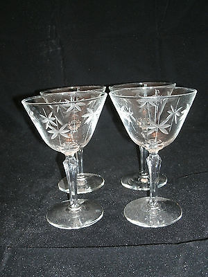 """Libbey Rock Sharpe CANDLELIGHT 4-6"""" Champagne Tall Sherbet Crystal Retired EC"""
