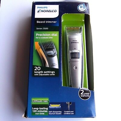 Philips Norelco QT4018/49 Beard Trimmer - Series 3500 - New in Damaged Box