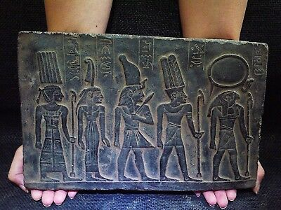 ANCIENT EGYPT EGYPTIAN ANTIQUE Amon Ra Goddess Stela Relief Plaque 1278-1242 BC