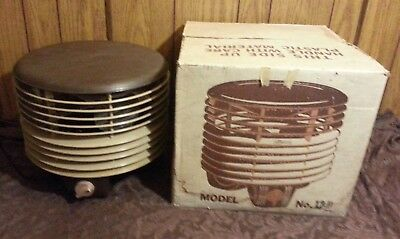 Vtg AIR FLIGHT CIRCULATORS Brown TAN Model 12 Hassock Fan UNUSED In Original Box