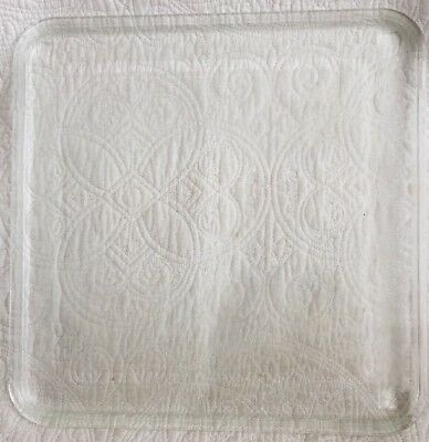"""Microwave Oven Replacement Glass Plate Tray Square 13 5/8"""" Ge Amana Kenmore Lg"""
