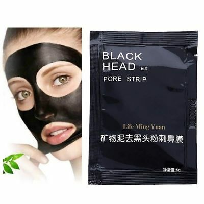 Black Mud Face Nose Mask Blackhead Remover Deep Cleansing Peel Acne Treatment