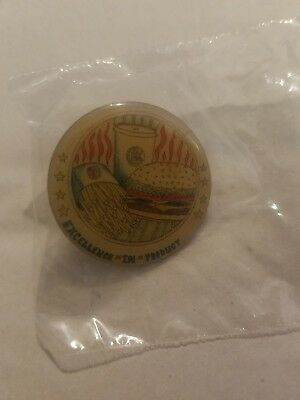 Vintage Burger King  Pin Excellence in Product