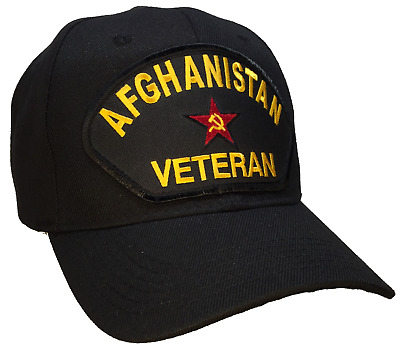 Afghanistan Veteran Hat Black Ball Cap Soviet Union USSR Hammer and Sickle