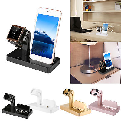 For Apple Watch iWatch iPhone X 8 7 6 Charging Dock Station Cradle Stand Holder