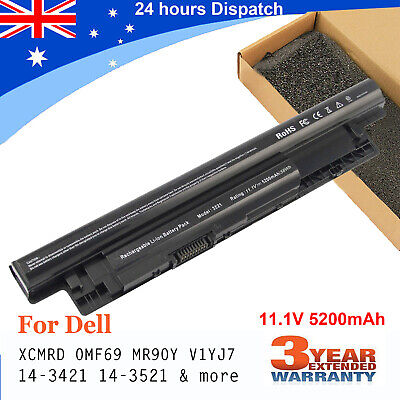 For Dell Inspiron 15R-5521 3521 15-3521 17-3721 Laptop Battery MR90Y 65Wh 11.1V
