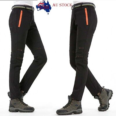 Men/Women Winter Outdoor Hiking Ski Pants Fleece Windproof Waterproof Trousers