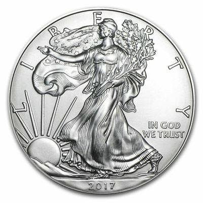 2017 1 oz. American Silver Eagle, Gem BU w/ No Marks/Spots!    Buy 2 & Save $1