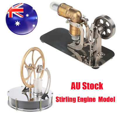 Mini Hot Air Stirling Engine Motor Model Educational Toy Kits Electricity AU NSW
