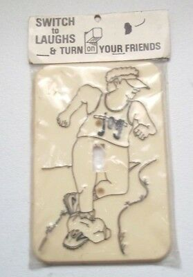 Vintage Flash It Corp. Jogger Light Switch Cover Plate - NOS 1976