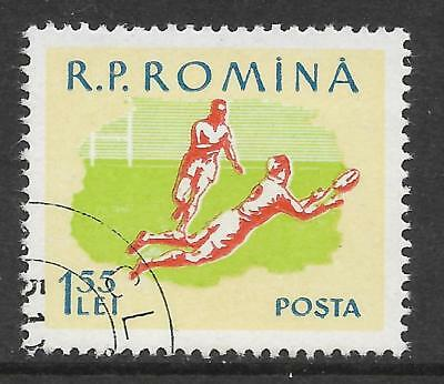 ROMANIA ROUMANIA 1959 SPORTS Single RUGBY UNION 1v USED CTO