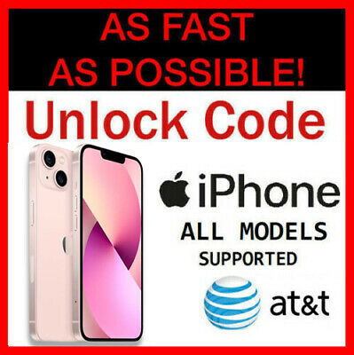 Unlock Code iPhone 11 & Pro & Max XS XR X iPhone 8 7 6 & Plus AT&T ATT