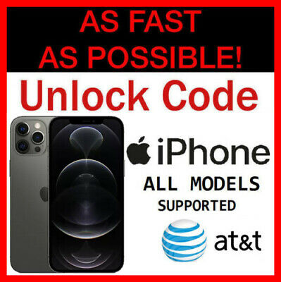 iPhone XS Unlock Code Service ATT AT&T XS/Max XR iPhone 8 8+ Plus