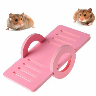 Wooden Toy Pet Bird Hamster Rat Mouse House Cage Nest Seesaw Exercise Play Toys