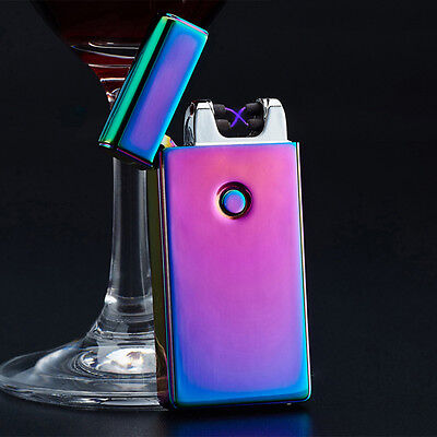 USB Rechargeable Electric LIGHTER Double ARC PULSE Flameless Plasma Torch HY1I