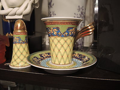 VERSACE CUP SAUCER SET RUSSIAN DREAM NEW IN BOX Authentic RETIRED $320 SALE