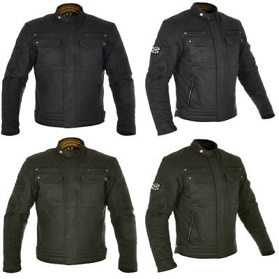 Oxford Hardy Wax Motorcycle Jacket Olive and Black Thermal Biker Touring CE New