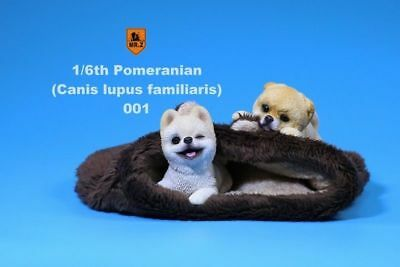 Mr.Z MRZ020 Pomeranian Resin Puppy Couple Dog Pet Figure 1/6 Scale Animal Toys