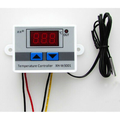 220V 10A Digital LED Temperature Controller Thermostat Control Switch Probe GE3