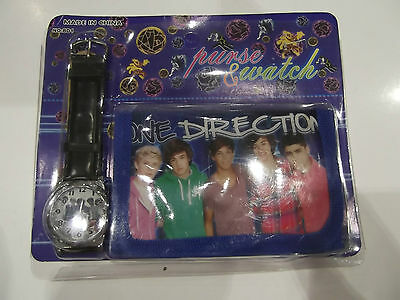 One Direction Wallet & Watch Set NEW in Packet Black/Blue Multi Colour