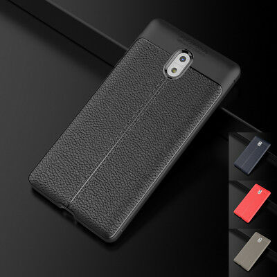 Vintage Premium PU Leather Soft TPU Shockproof Back Case Cover for Nokia 3 5 6