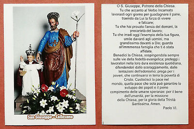 Santino Holy Card: S. San Giuseppe - Collesano