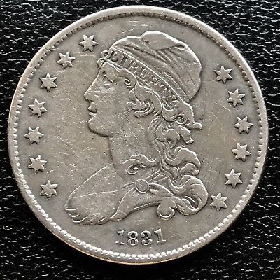 1831 Capped Bust Quarter Dollar 25c RARE High Grade VF XF #5466