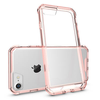 Shockproof Armor Clear Phone Case For iPhone 8 7 6 Plus Transparent Back Cover